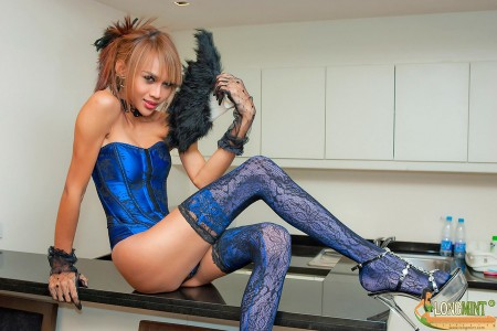 seductive asian tgirl is a cabaret dancer